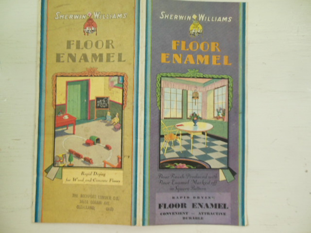 Sherwin Williams Floor Enamel Vintage Brochure 1933
