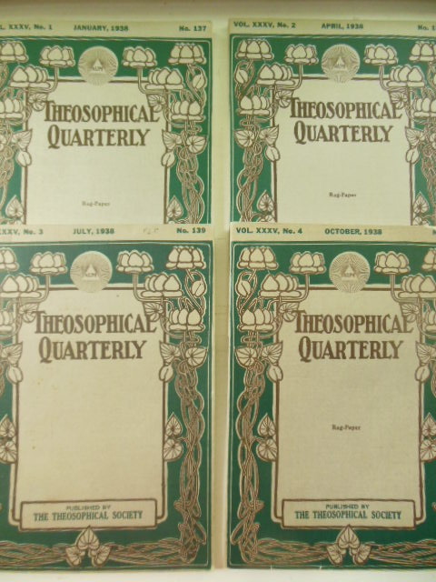 Image for The Theosophical Quarterly Vol. XXXV (Full run) 1937-38