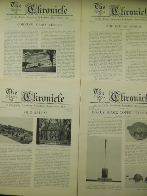 The Chronicle of the Early American Industries Association 1957 (Full Run, Four Issues)