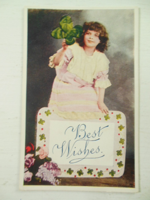 Image for Postcard Best Wishes Four-Leaf Clover