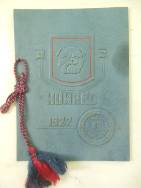 Vintage Program Howard University Commencement 1927