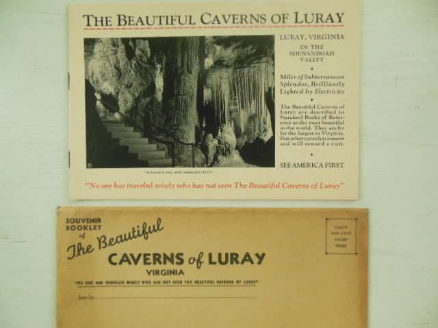 The Beautiful Caverns of Luray Virginia (Orginal Envelope 1935)