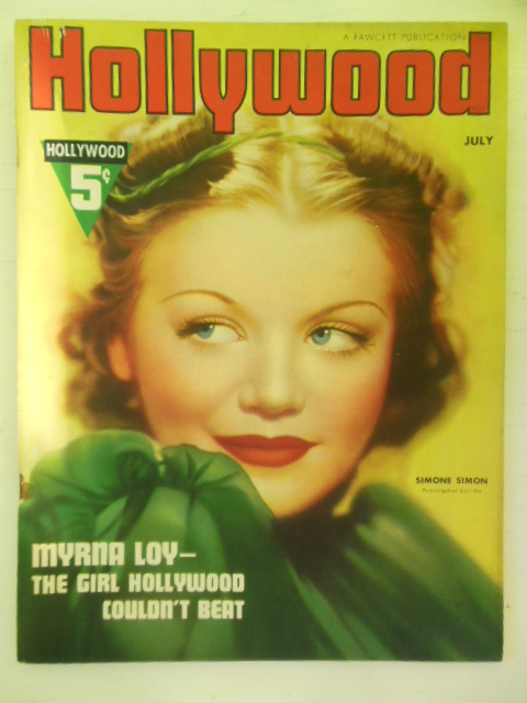 Image for Hollywood Magazine July, 1937 (Myrna Loy Cover)
