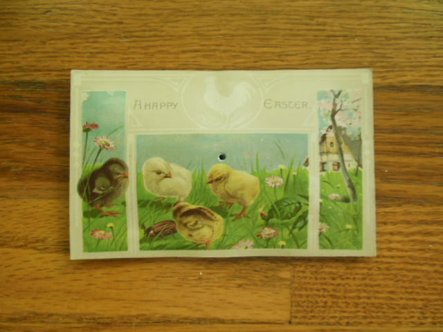 Image for A Happy Easter Squeaker Postcard Peeps 1912