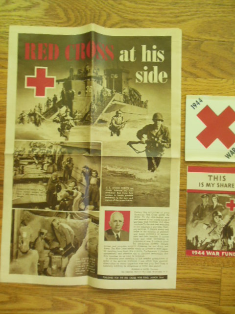 Image for Red Cross War Fund WWII Ephemera 1944