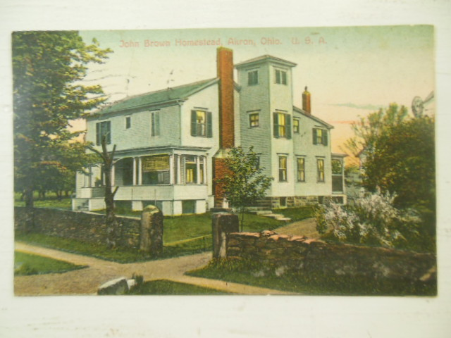 Image for John Brown Homestead, Akron, Ohio Postcard 1913
