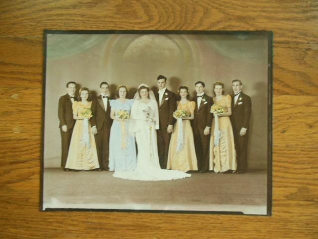 Image for 1940's Wedding Pictures; Hand Colored and Duotone