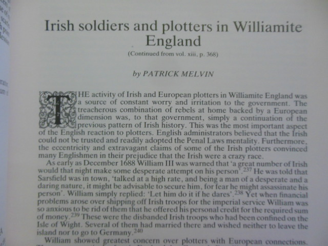 Image for The Irish Sword; Journal of the Military Society of Ireland Winter 1981