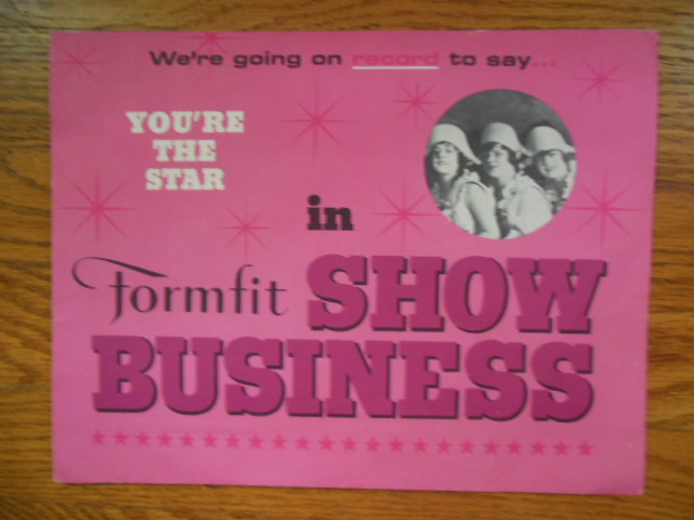 Image for Formfit In Show Business (Formfit Lingerie Sales Brochure and 33-1/3 RPM Record)
