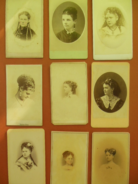 Image for Nine Carte de Visites Womens' Portraits, Kentucky