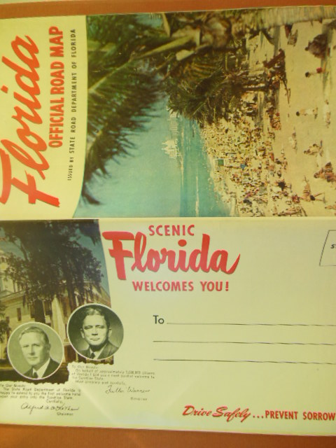 Image for Florida Official Road Map 1952