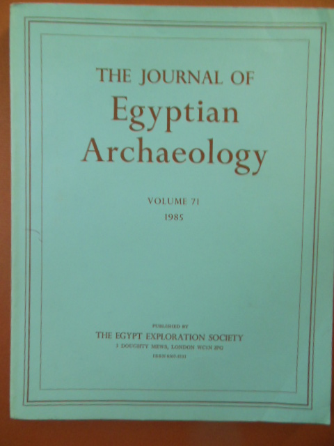 Image for The Journal of Egyptian Archaeology Volume 71, 1985