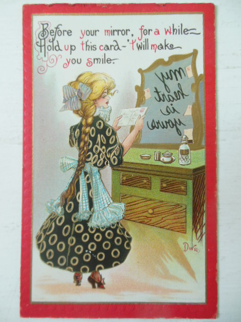 Image for Novelty postcard Reverse Writing in Mirror