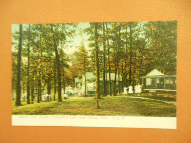 Image for Akron Club House Turkeyfoot Lake Near Akron, Ohio Color Postcard circa 1910