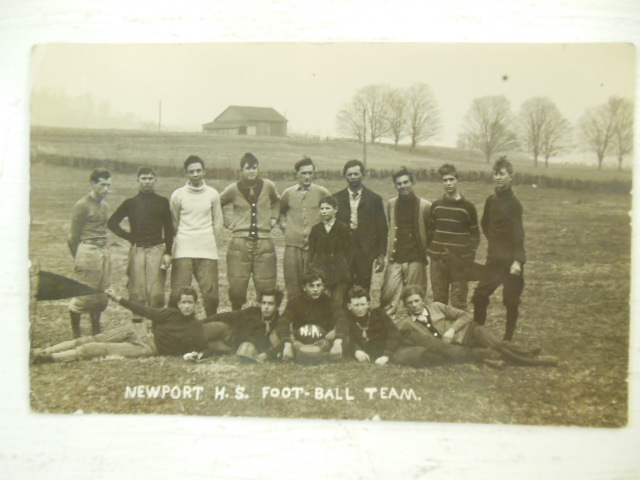 Image for Real Photo Postcard Newport High School Football Team