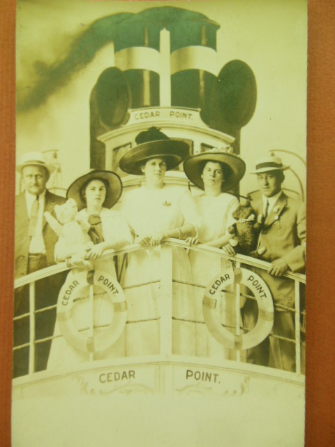Image for Cedar Point Amusement Park (Ohio) Tourists in the Arcade Real Photo Postcard