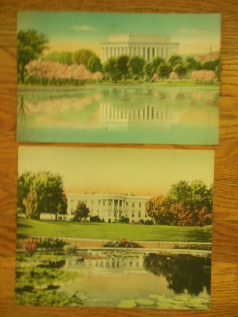 Image for Two Vintage Pastel Prints of Washington D.C. in Spring