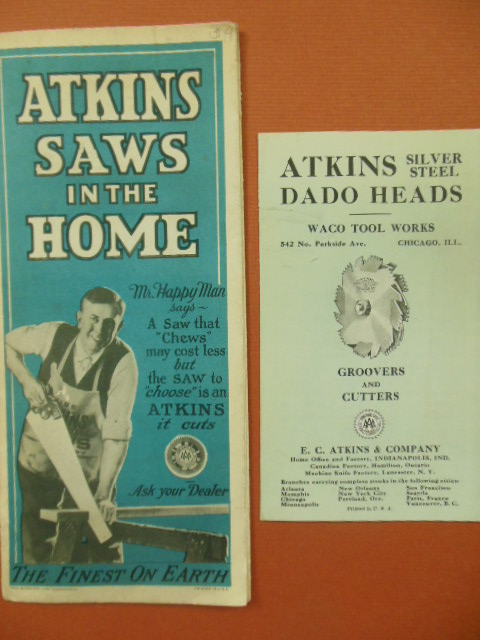 Image for Atkins Saws In The Home & Atkins Silver Steel Dado Heads (Vintage Advertising Brochures from E.C. Atkins & Company)