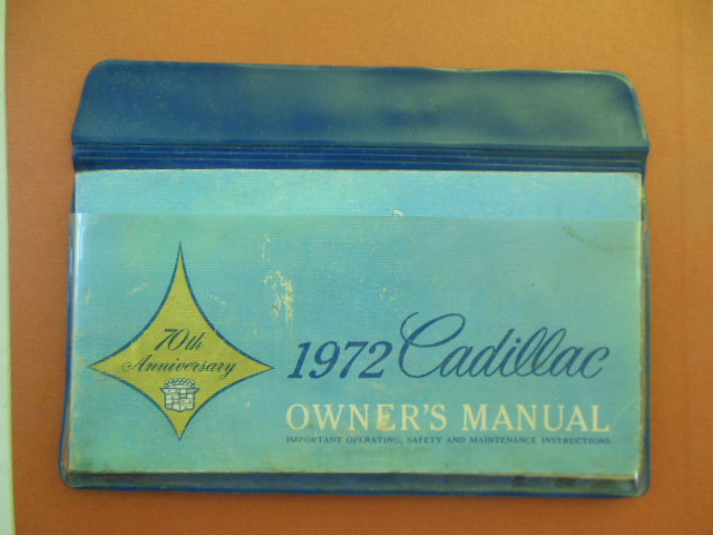 Image for 1972 Cadillac Owner's Manual in Original Plastic Case (With Emissions Booklet)