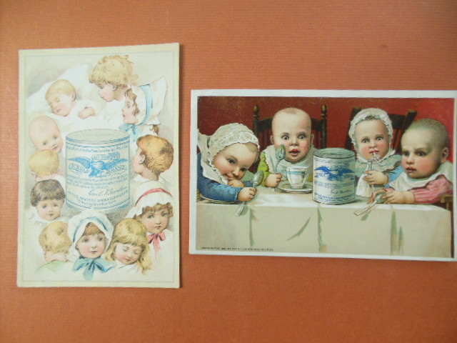 Image for Gail Borden Eagle Brand Condensed Milk Two Trade Cards