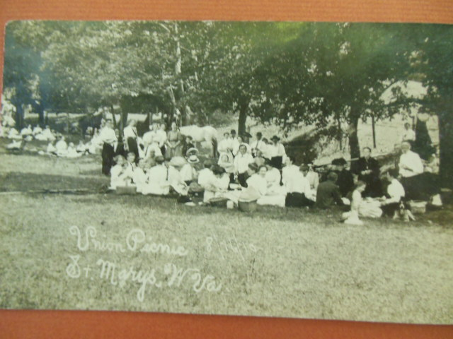 Image for Real Photo Postcard Union Picnic St. Mary's, west Virginia 1911