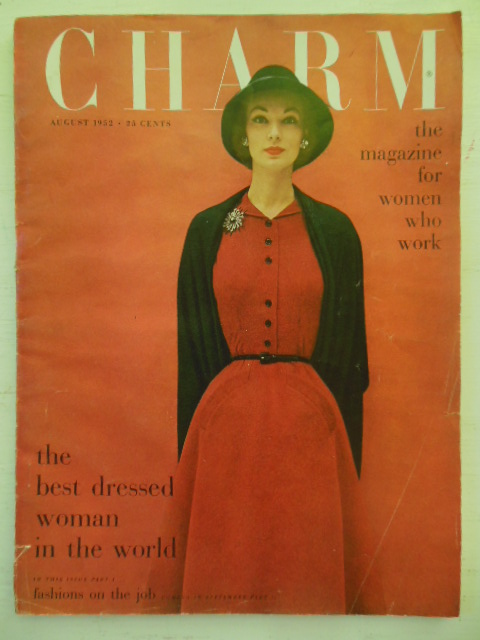 Image for Charm: The Magazine for Women Who Work August, 1952