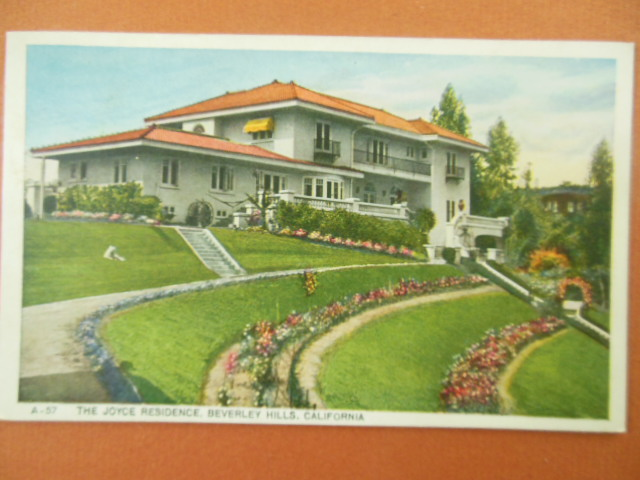 Image for The Joyce Residence Beverley Hills California color Postcard
