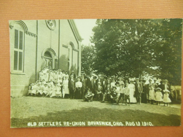 Image for Real Photo Postcard Old Settlers Reunion Brunswick, Ohio August 13, 1910