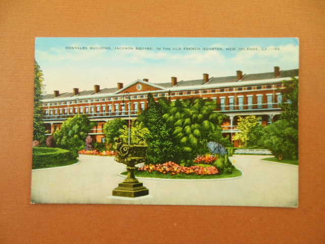 Image for Pontalba Building Jackson Square Old French Quarter New Orleans Linen Postcard