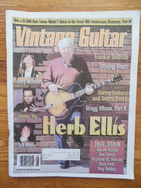 Image for Vintage Guitar Magazine October 1997 (Herb Ellis cover)