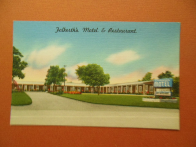 Image for Linen Postcard Folkerth's Motel & Restaurant New York State