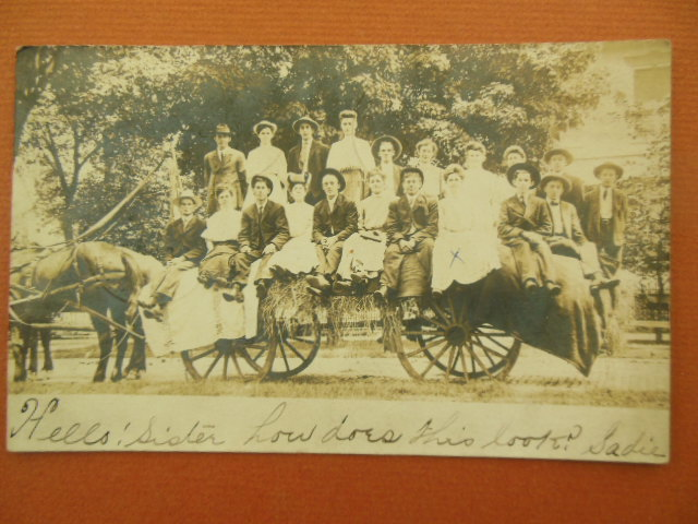 Image for Real Photo Postcard People on a Hay Wagon (Ohio)