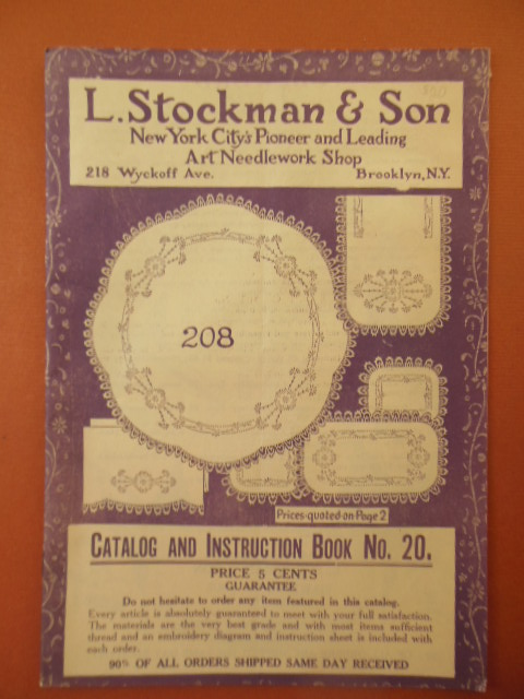 Image for L. Stockman & Son Needlework Catalog and Instruction Book No. 20 (1925)