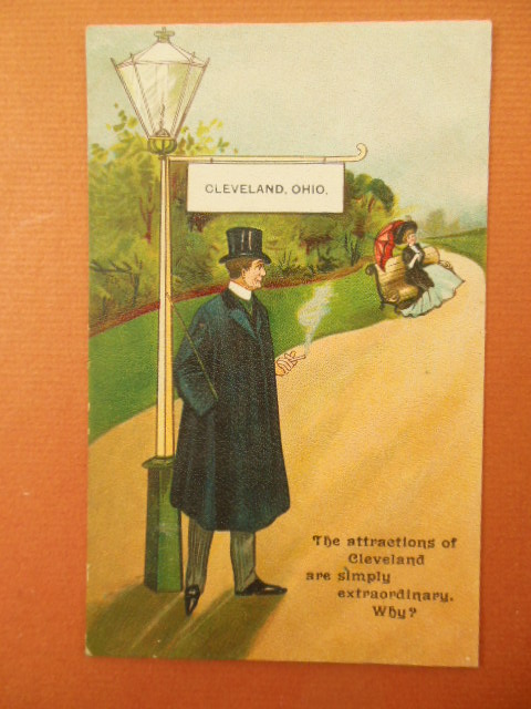 Image for The Attractions of Cleveland Postcard
