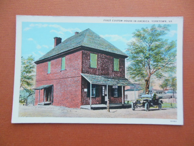 Image for Postcard First Custom House in America Yorktown, Virginia