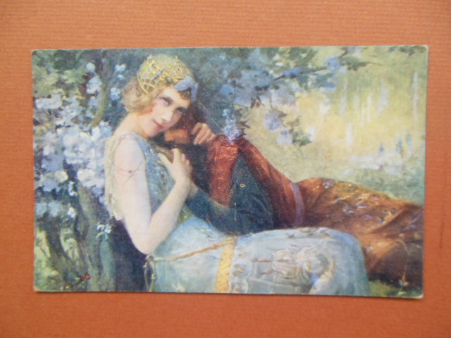 Image for Viviane et Merlin Vintage Postcard