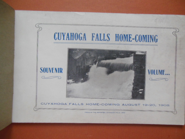 Image for Cuyahoga Falls Home-Coming Souvenir Volume August 19-20, 1918