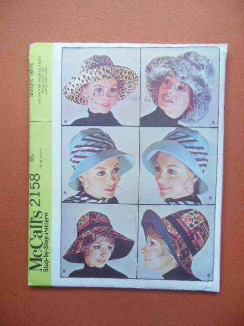 Image for McCalls 2158 Misses Hat Pattern(UNCUT)