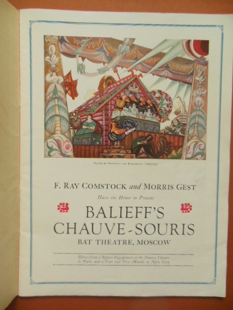 Image for Balieff's Chauve-Souris of Moscow American Season Under the Direction of F. Ray Comstock and Morris Gest 1923