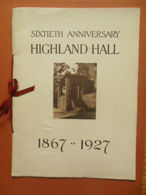 Image for Sixtieth Anniversary Highland Hall 1867-1927 (Pennsylvania)