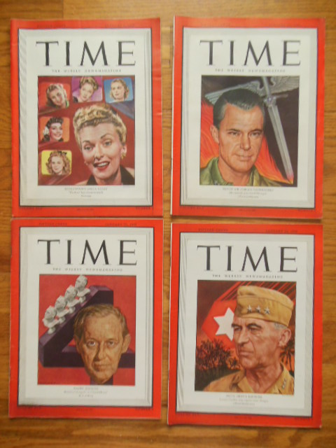 Image for Time Magazine January 8, 15, 22, 29, 1945 (Four consectutive issues)