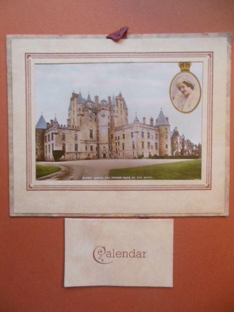 Image for 1945 British Calendar Glamis Castle former Home of the Queen