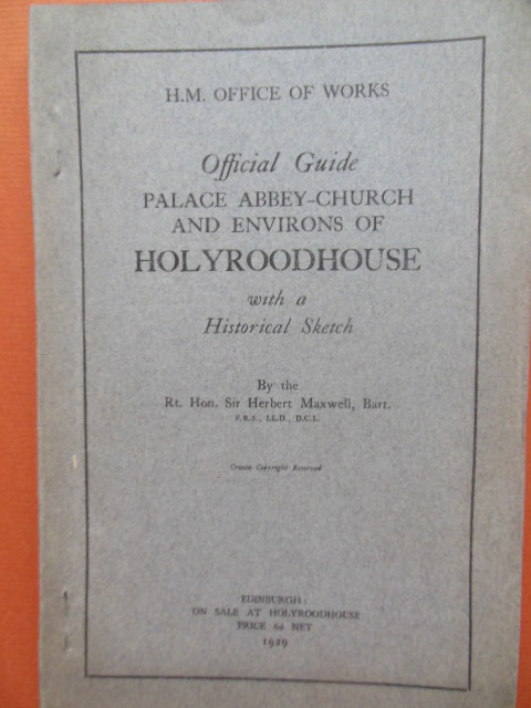Image for Official Guide Palace Abbey-Church and Environs of Holyroodhouse 1929