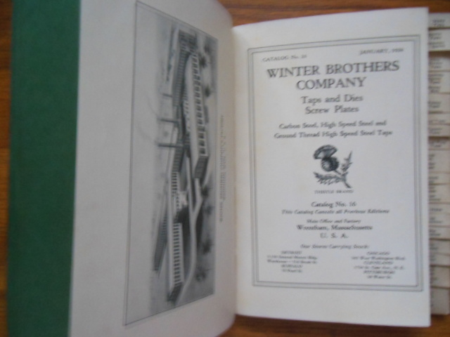 Image for Winter Brothers Company Taps and Dies Catalog No. 16 (1928)