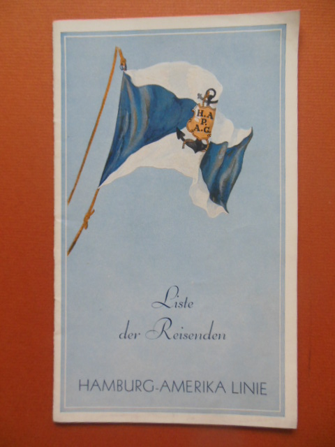 Image for Passenger List Hamburg-Amerika Line August 11,1932
