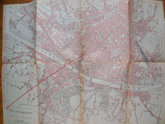 Image for A Visitor's Map of Florence And Useful Notes for Tourists   (circa 1926)