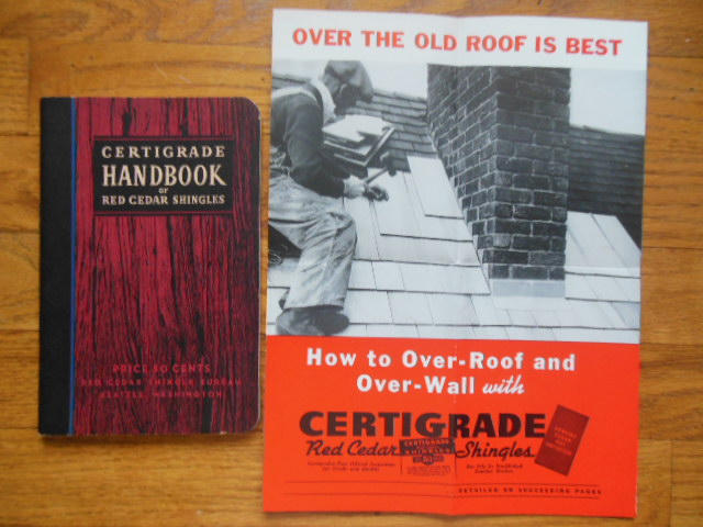 Image for Certigrade Handbook of Red Cedar Shingles Plus Over-Walling Brochure 1938
