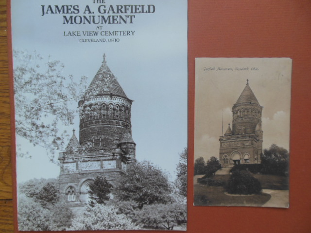 Image for The James A. Garfield Monument at Lake View Cemetery Cleveland, Ohio and Sepia Postcard of Garfield Monument in Cleveland