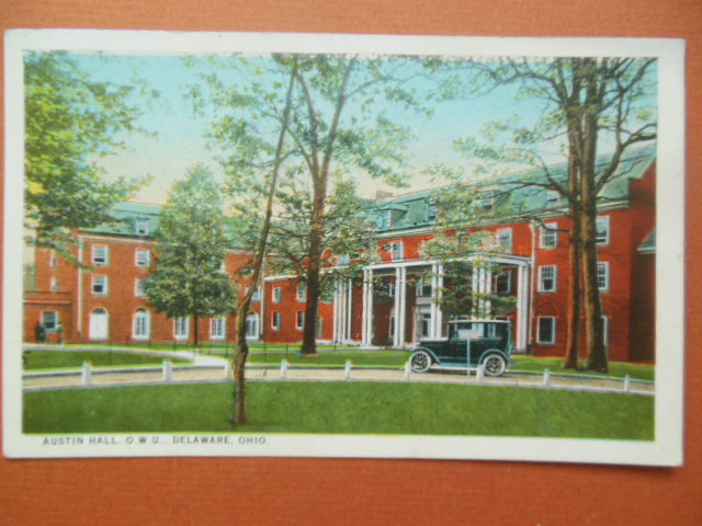 Image for Austin Hall Ohio Wesleyan University Delaware, Ohio Vintage Postcard