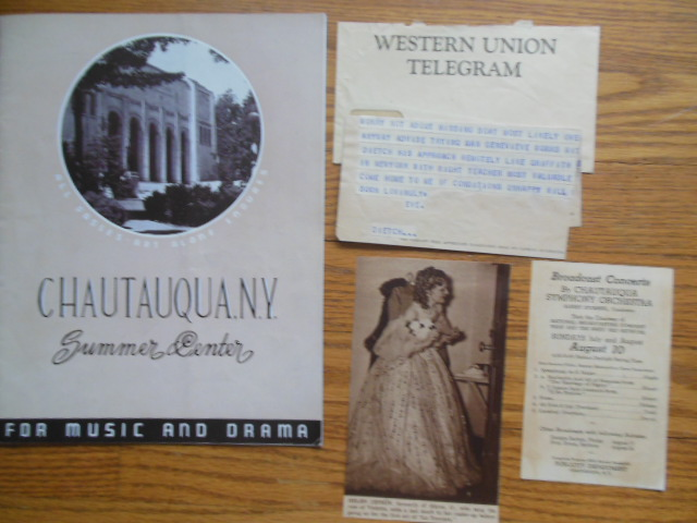 Image for Chautauqua Summer Center For Music and Drama Season Program 1942 (Plus Related Ephemera)